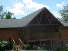 Gatlinburg cabin rental w Smoky Mountain views, Wi-Fi, Hot Tub, Game Room, 4 MBR Suites. The Gatlinburg Lodge at SmokyMountainViews.com has over 4,000 sq ft, and awesome views of The Great Smoky Mountains National Park.